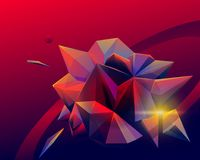 Cosmic abstract facet art background Stock Photography
