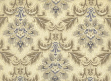 High resolution antique wallpaper with floral pattern Stock Images