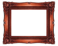 High resolution baroque style frame cutout on white isolated wit Stock Image