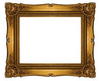 High resolution baroque style frame cutout on white isolated wit Stock Photos