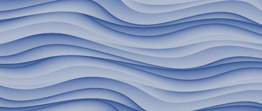 High Resolution Blue Abstract Waves Business Background Design. Computer generated high resolution cascading and tumbling waves background design in shades of Royalty Free Stock Photography