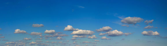 High resolution bright sky panorama Stock Photography