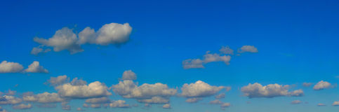 High resolution bright sky panorama royalty free stock image