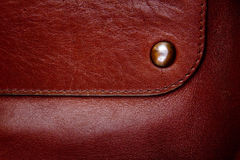 High resolution brown leather texture Royalty Free Stock Images
