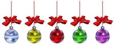 High Resolution Christmas Ornaments Royalty Free Stock Image