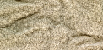 Cotton Fabric Texture - Beige Royalty Free Stock Photo