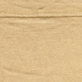 Cotton Fabric Texture - Beige with Seam Stock Image