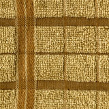 Towel Cloth Texture - Beige Grid Stock Images