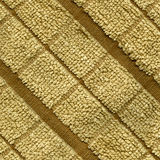 Towel Cloth Texture - Beige Double Striped Royalty Free Stock Photography