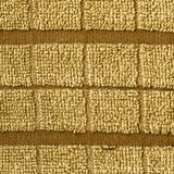 Towel Cloth Texture - Beige Double Striped Stock Images