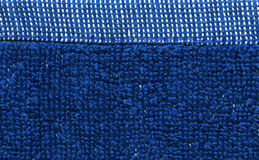 Towel Cloth Texture - Blue Stock Photo