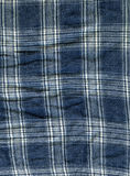 Cotton Fabric Texture - Blue & White Mesh. High resolution close up of blue & white mesh cotton fabric Royalty Free Stock Photo