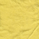 Cotton Fabric Texture - Bright Yellow Stock Photography