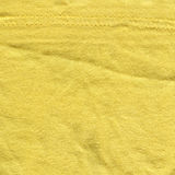 Cotton Fabric Texture - Bright Yellow with Seams Royalty Free Stock Photography