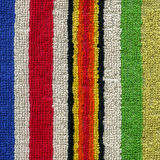 Towel Cloth Texture - Colorful Stripes Royalty Free Stock Image