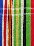 Towel Cloth Texture - Colorful Stripes Stock Image