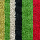 Towel Cloth Texture - Colorful Stripes Royalty Free Stock Photo