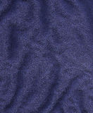 Cotton Fabric Texture - Dark Blue Royalty Free Stock Photos