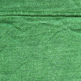 Cotton Fabric Texture - Green with Seams. High resolution close up of green cotton fabric with two seams crossing Stock Images
