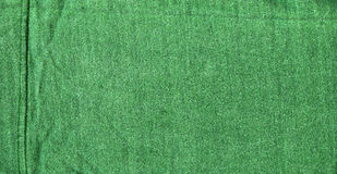 Cotton Fabric Texture - Green with Seams Royalty Free Stock Photos