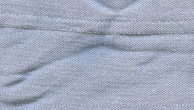 Cotton Fabric Texture - Pastel Blue with Seams Royalty Free Stock Photo