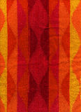 Towel Cloth Texture - Pink, Red, Orange & Yellow Royalty Free Stock Photography