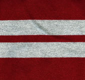Cotton Fabric Texture - Red with Gray Stripes. High resolution close up of red cotton fabric Stock Photos