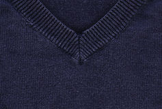 Cotton Fabric Texture - Navy Blue with Collar Stock Images