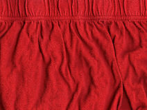 Cotton Fabric Texture - Red Royalty Free Stock Photo