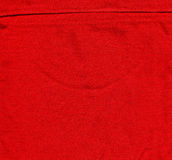 Cotton Fabric Texture - Red with Seam Royalty Free Stock Images