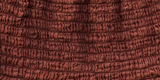 Cotton Fabric Texture - Squiggly Brown Stock Images
