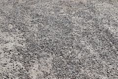 High resolution close up surface texture of gravel on the ground with high detail. Found in germany royalty free stock photography