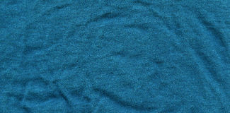 Cotton Fabric Texture - Turquoise Royalty Free Stock Photography