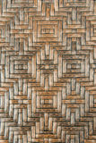 Brown rattan wicker weave texture with chinese traditional pattern, handcrafted surface for background  Stock Photography