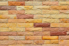High resolution colourful brick wall texture Stock Photography