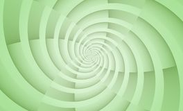 Opaque pale green spinning spiral circles vortex abstract design background stock images