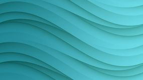 Elegant teal blue green smooth sloping curves horizontal format abstract background vector illustration