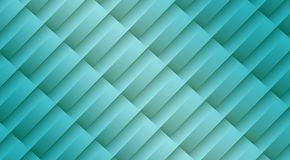 Fresh aqua blue diagonal 3d lines and bars geometric abstract pattern background. High resolution computer generated abstract fractal geometric background royalty free illustration