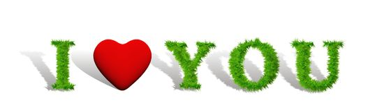 High resolution conceptual I love you Stock Images