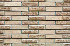 High resolution cream brick wall texture Stock Photos