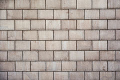 High resolution cream brick wall texture Stock Image