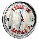 3D Illustration Clock Face with text Time Is Money. High resolution 3d illustration of clock face with text Time Is Money isolated on pure white background Royalty Free Illustration