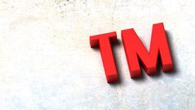 3D Illustration of Trademark Symbol Stock Illustration