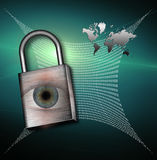 High Resolution Earth Web Security Stock Photo