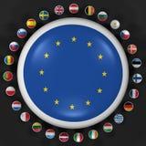 High resolution European Union symbols. European Union. High resolution 3d render on black Stock Photo