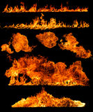 High resolution fire collection Stock Photo