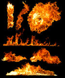 High resolution fire collection Stock Image