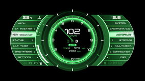 High resolution footage of futuristic interface. Interesting abstract digital background. Blinking and switching indicators and st
