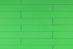 High resolution green plastic wall background with brick form Royalty Free Stock Photos