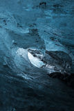 Ice cave wave. A high resolution of ice inside an ice cave stock photo
